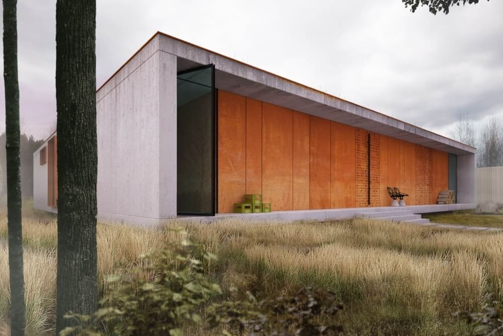 Konstruktionsprojekt des Hauses - Vis. 01-03