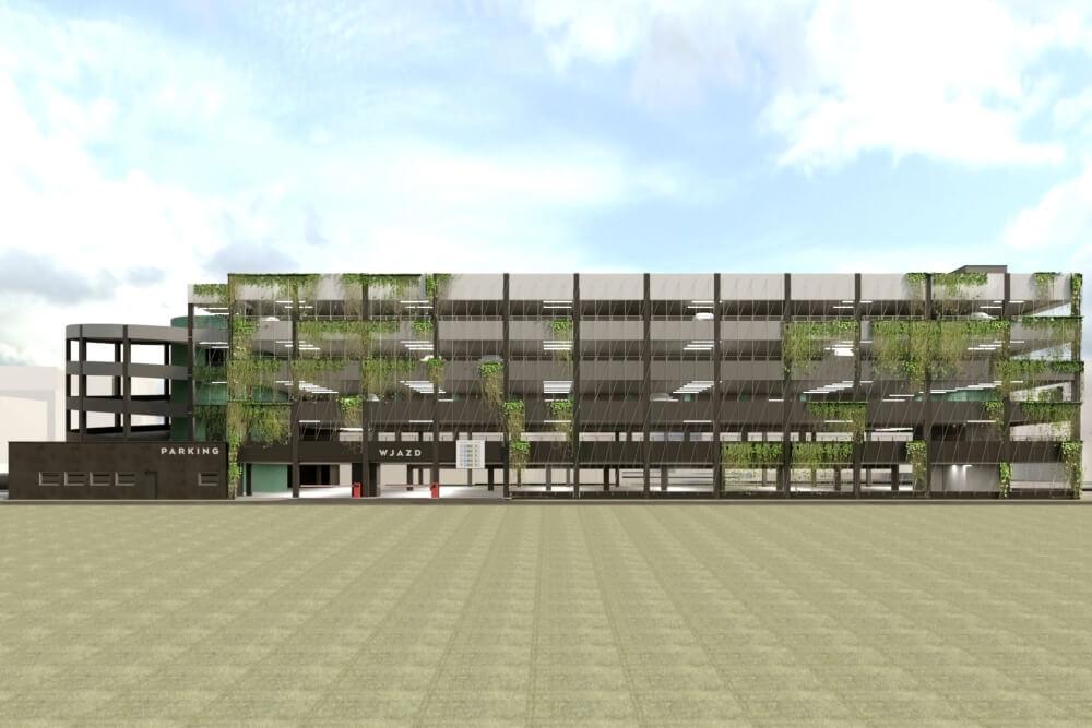 Konstruktionsprojekt des Mehrstöckige Parkplatz - Vis. 01-03