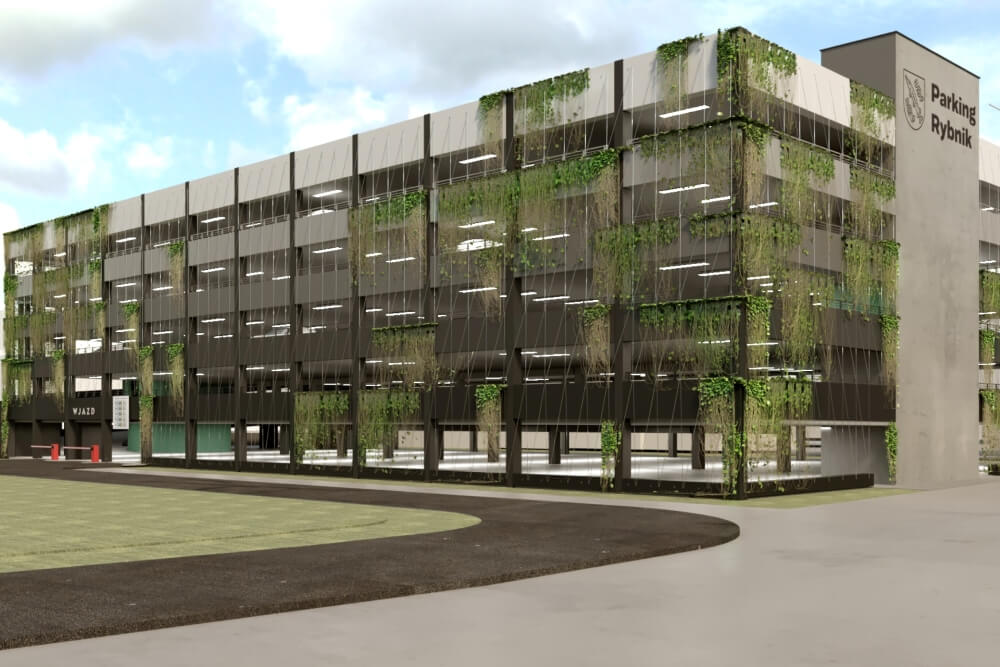 Konstruktionsprojekt des Mehrstöckige Parkplatz - Vis. 02-03
