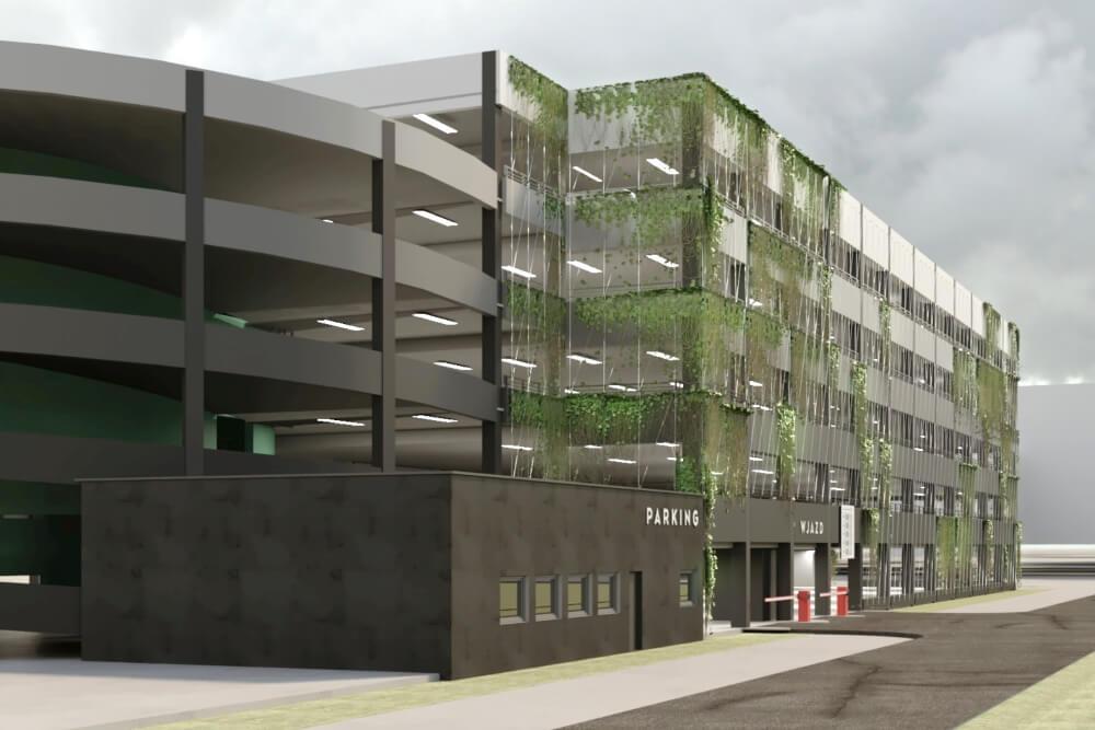 Konstruktionsprojekt des Mehrstöckige Parkplatz - Vis. 03-03