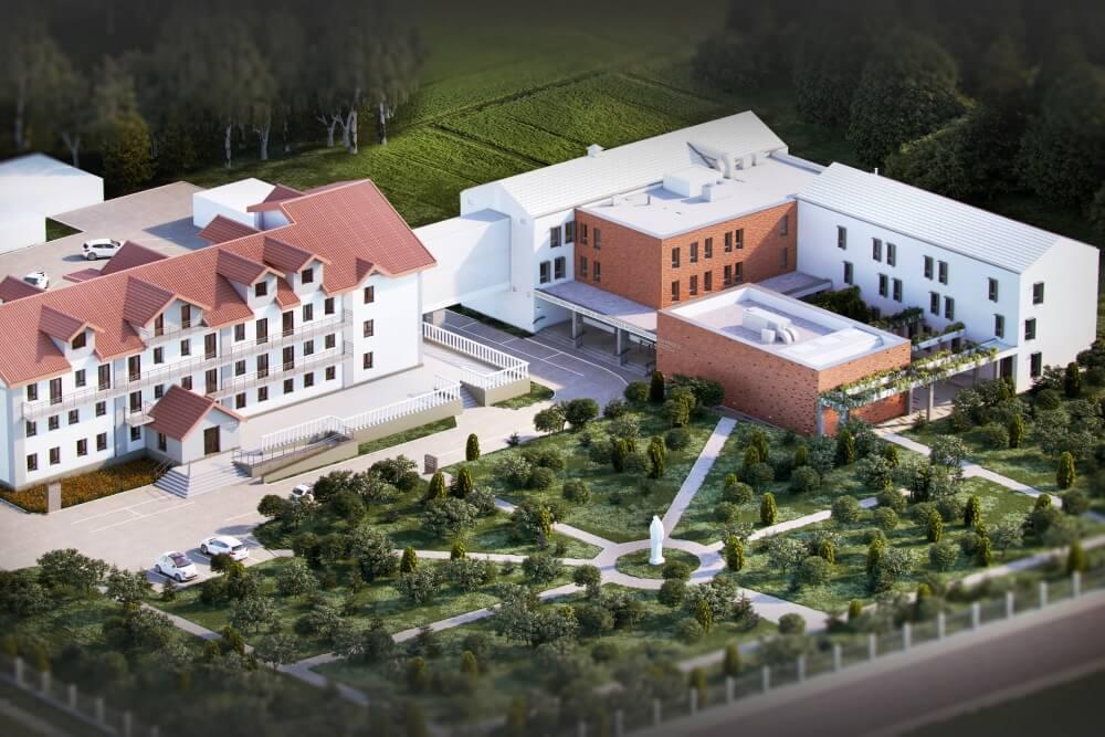 Konstruktionsprojekt des Pflegeheims für ältere Menschen - Vis. 03-03