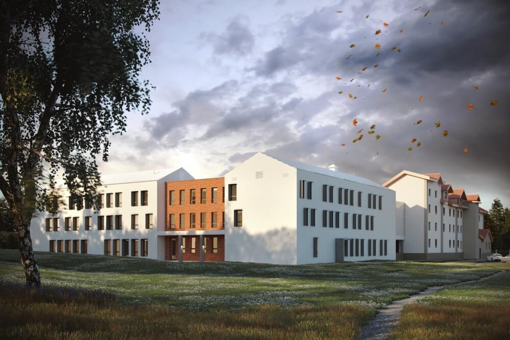 Konstruktionsprojekt des Pflegeheims für ältere Menschen - Vis. 04-03