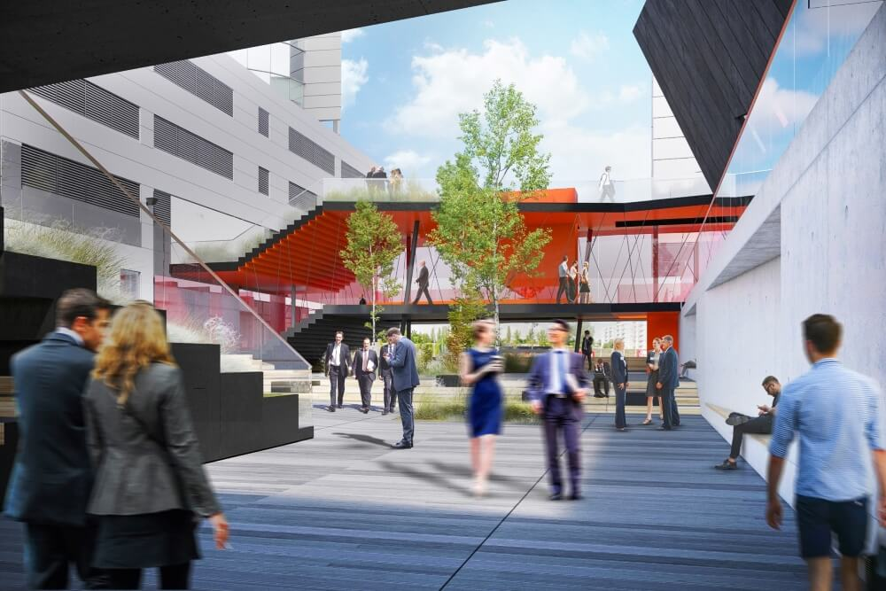 Konstruktionsprojekt des Verbindungsgebäudes der Banken - Vis. 01-03