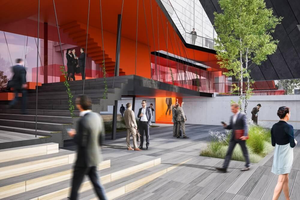 Konstruktionsprojekt des Verbindungsgebäudes der Banken - Vis. 02-03