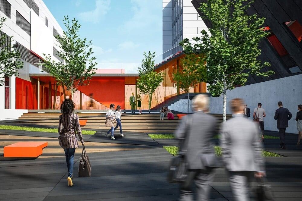 Konstruktionsprojekt des Verbindungsgebäudes der Banken - Vis. 03-03