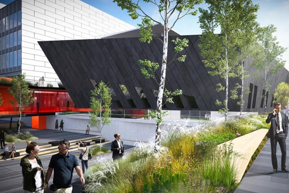Konstruktionsprojekt des Verbindungsgebäudes der Banken - Vis. 04-03