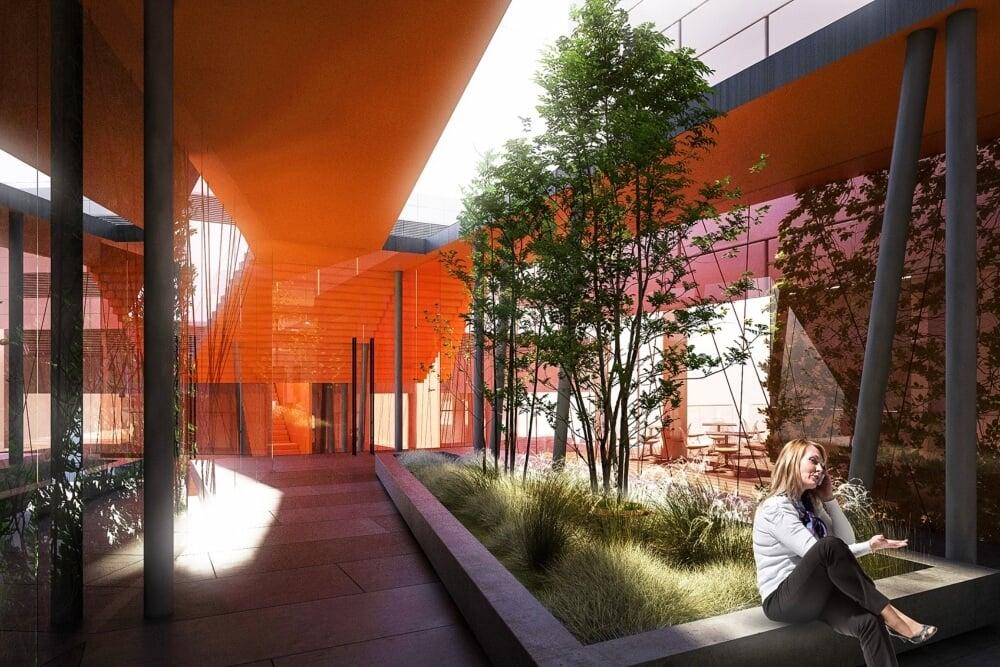 Konstruktionsprojekt des Verbindungsgebäudes der Banken - Vis. 05-03
