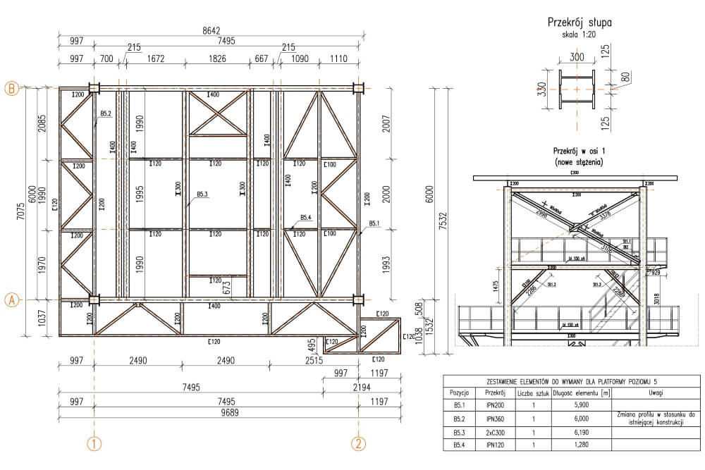 Projekt der Reparatur der Konstruktion - Zchng. 04-03