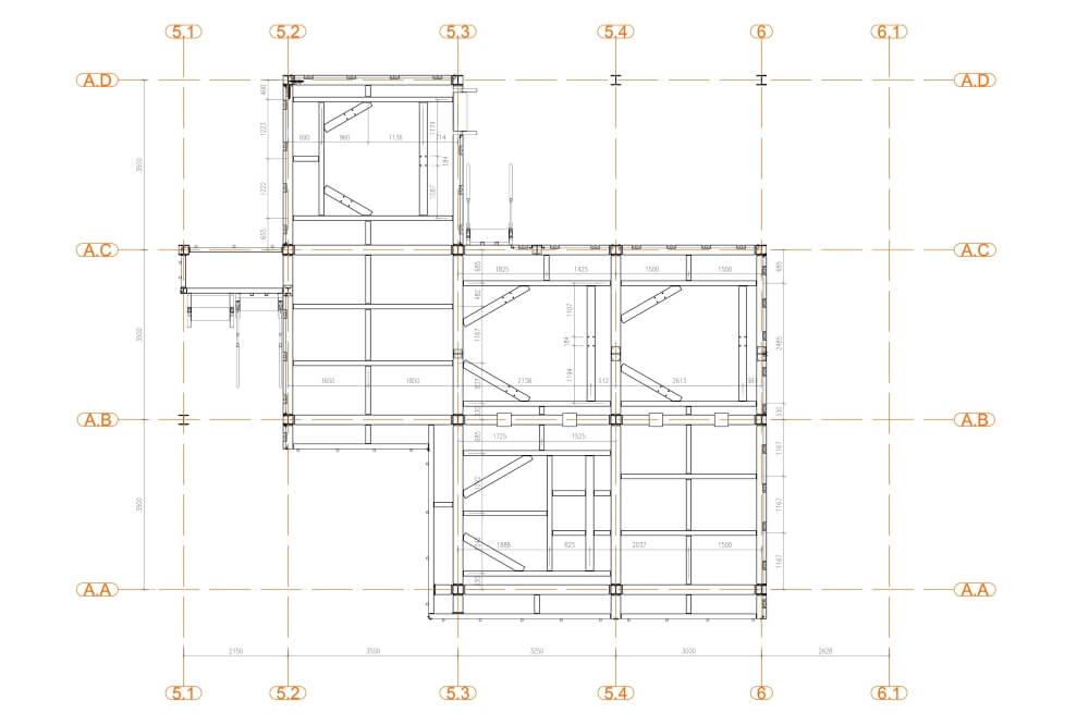Projekt der Stahlplattform für Chemiewerk - Zchng. 03-03