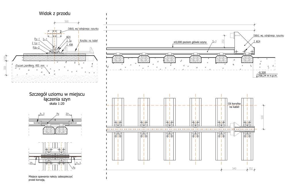 Projekt der Unterbau und Krone des Portalkrans - Zchng. 02-03