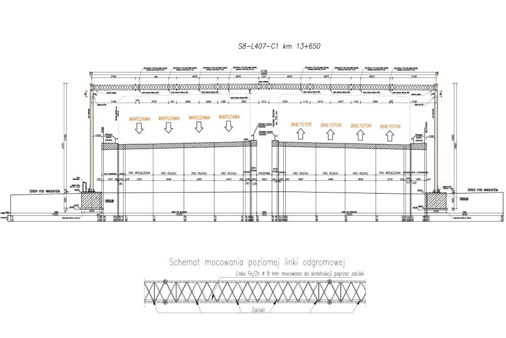 Projekt des Gittertores des Systems viaTOLL - Zchng. 01-03