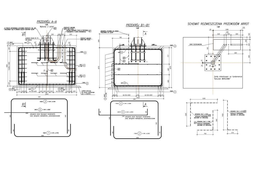 Projekt des Gittertores des Systems viaTOLL - Zchng. 03-03
