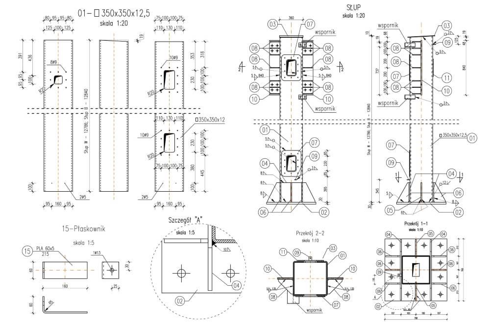 Projekt des Gittertores des Systems viaTOLL - Zchng. 05-03