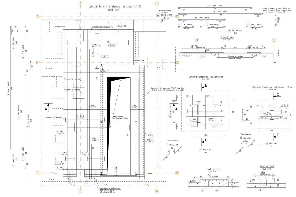 Projekt des Umbaus der Heizkraftwerkskonstruktion - Zchng. 01-03