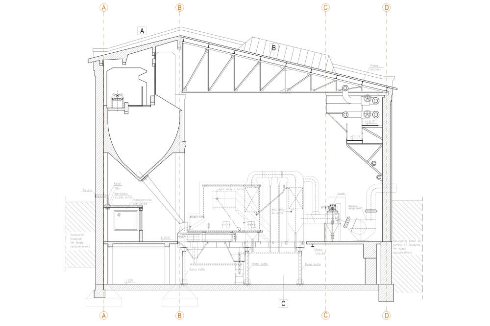 Projekt des Umbaus der Heizkraftwerkskonstruktion - Zchng. 02-03