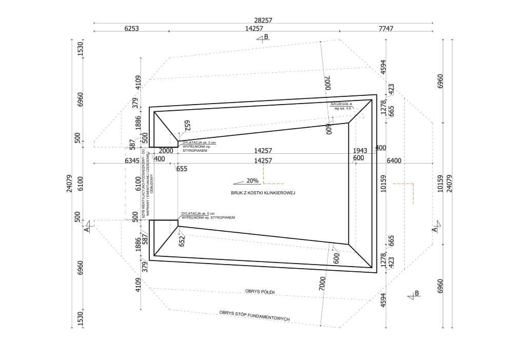 Projekt des Versatzgutbehälters - Zchng. 01-03