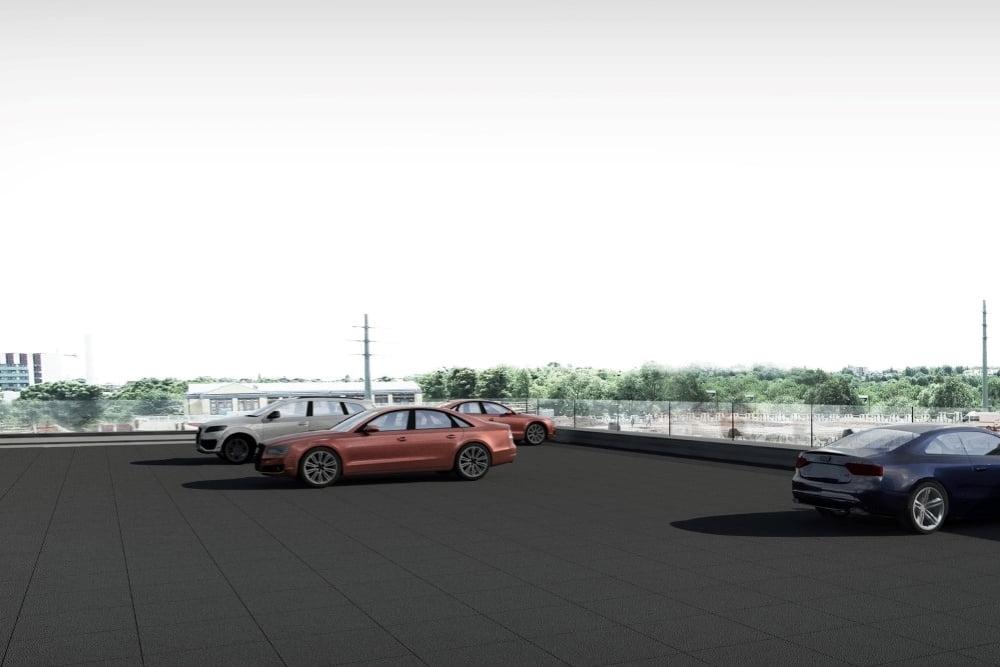 Konstruktionsprojekt des Autohauses AUDI - Vis. 14-03