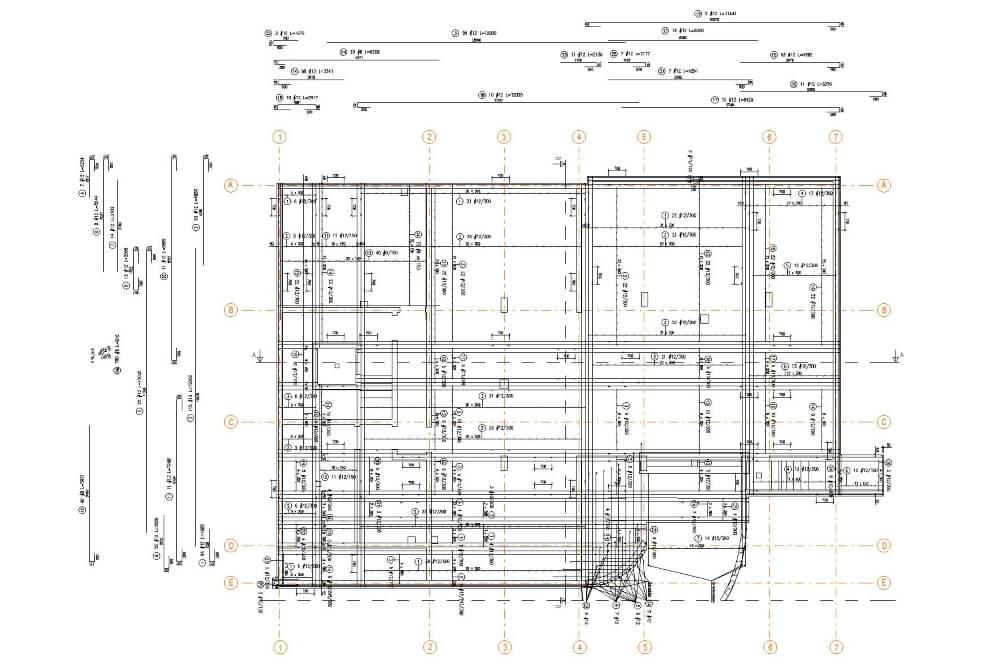 Konstruktionsprojekt des Mehrfamiliengebäudes in Leipzig - Zchng. 02-03