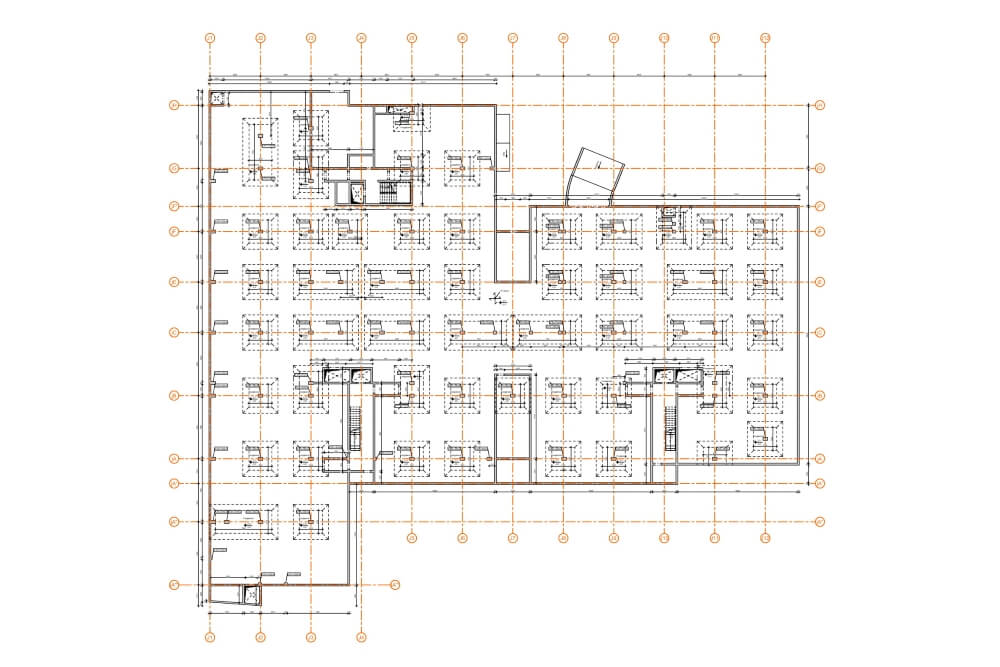 Konstruktionsprojekt des Wohngebäudekomplexes - Zchng. 03-03