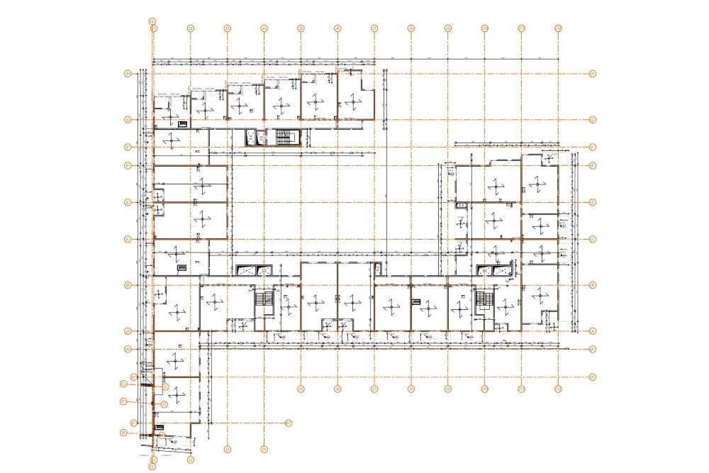 Konstruktionsprojekt des Wohngebäudekomplexes - Zchng. 04-03
