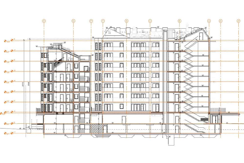 Konstruktionsprojekt des Wohngebäudekomplexes - Zchng. 05-03