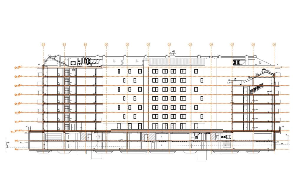 Konstruktionsprojekt des Wohngebäudekomplexes - Zchng. 06-03