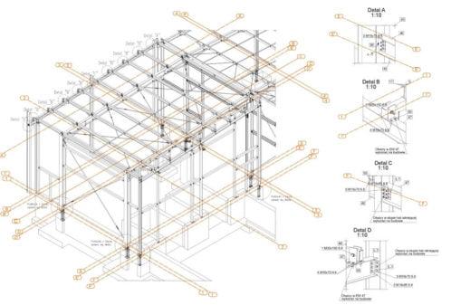 Projekt der Lagerhalle - Zchng. 01-03