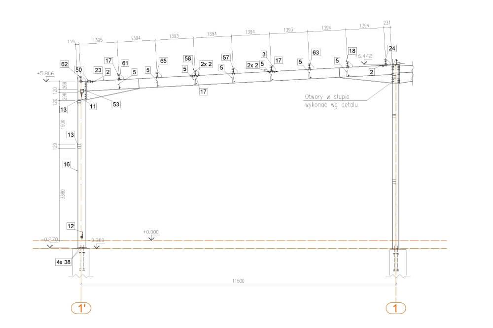 Projekt der Lagerhalle - Zchng. 03-03