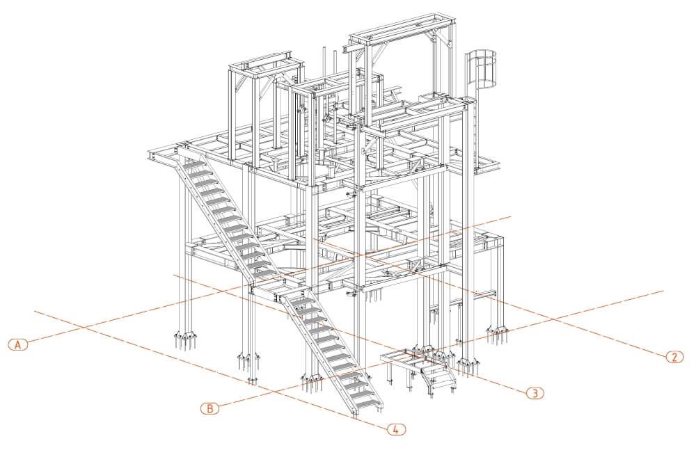 Projekt der Stahl-Service-Platfformen - Zchng. 01-03
