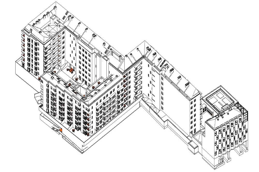 Projekt konstrukcyjny kompleksu budynków mieszkalnych - rys. 02-03