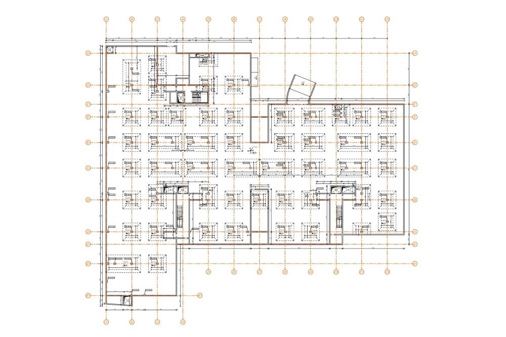Projekt konstrukcyjny kompleksu budynków mieszkalnych - rys. 03-03