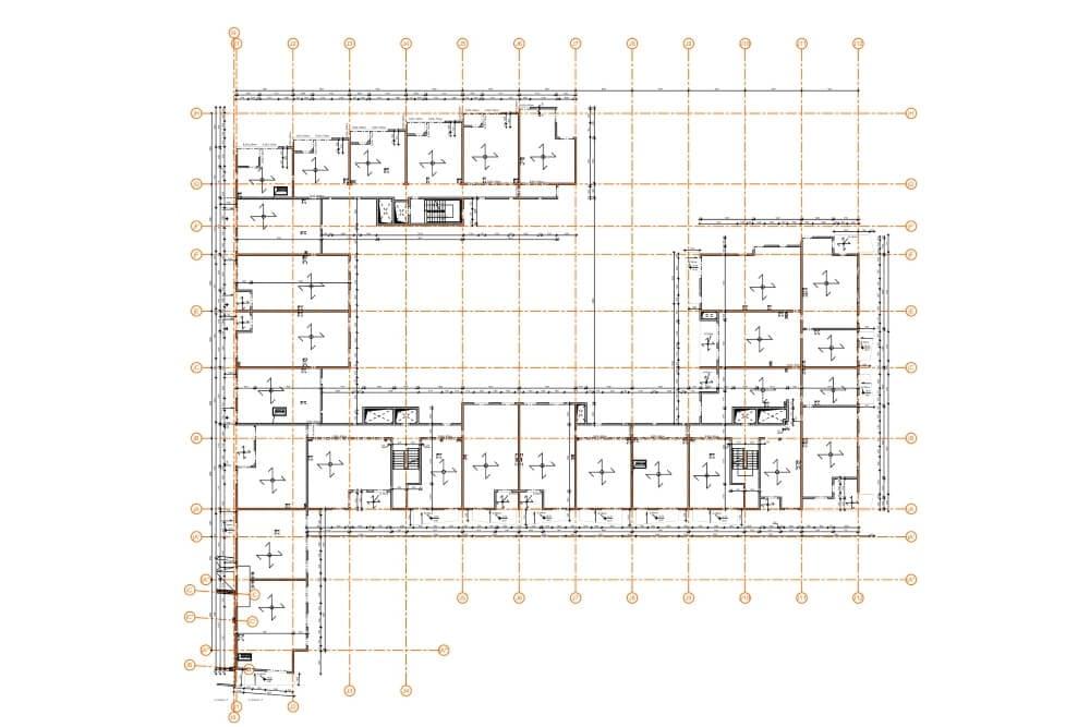 Projekt konstrukcyjny kompleksu budynków mieszkalnych - rys. 04-03