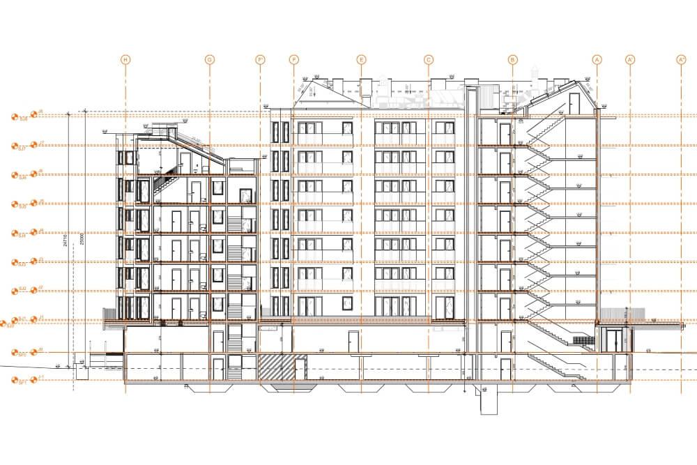 Projekt konstrukcyjny kompleksu budynków mieszkalnych - rys. 05-03