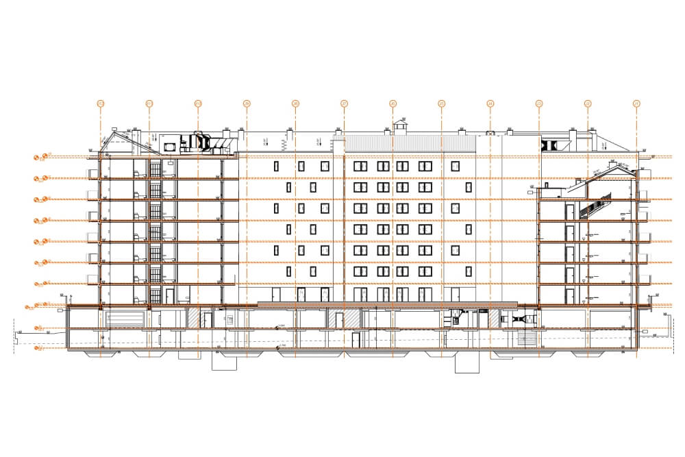 Projekt konstrukcyjny kompleksu budynków mieszkalnych - rys. 06-03