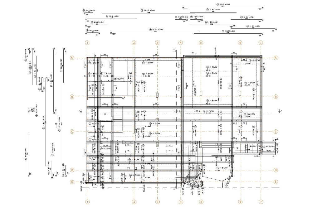 Projekt konstrukcyjny zabudowy wielorodzinnej - rys. 02-03