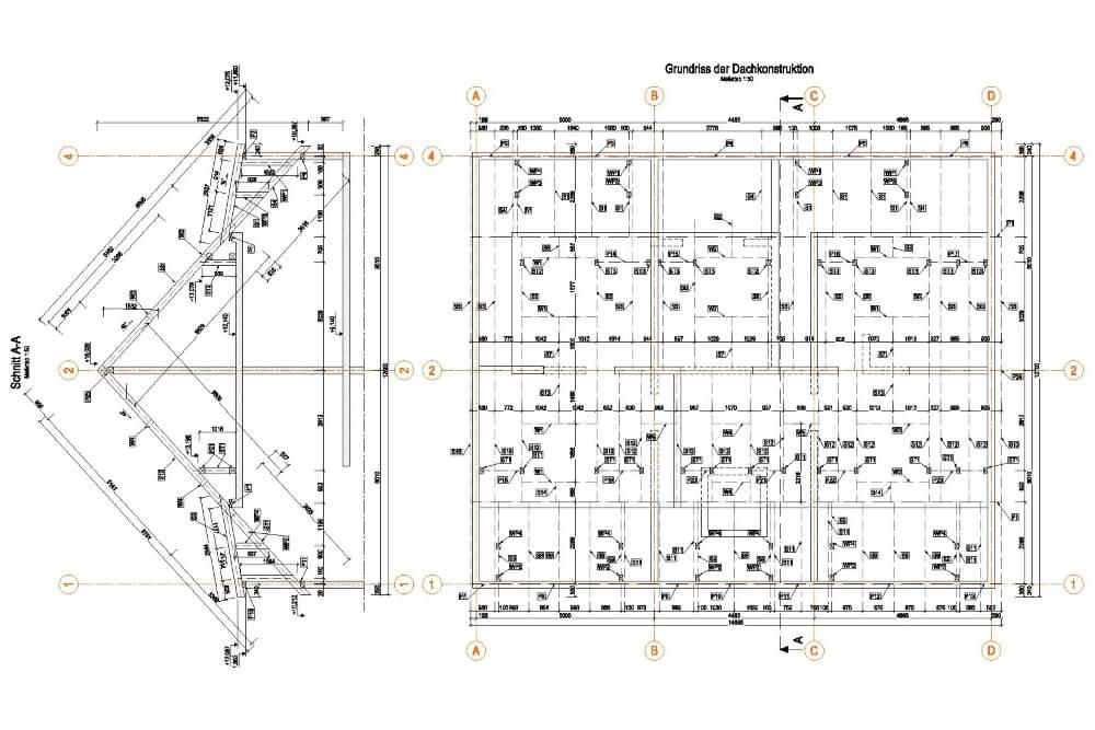Projekt konstrukcyjny zabudowy wielorodzinnej - rys. 03-03