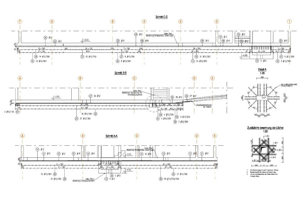 Projekt konstrukcyjny zabudowy wielorodzinnej - rys. 04-03