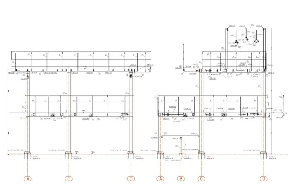 Projekt stalowych podestów obsługowych - rys. 05-03