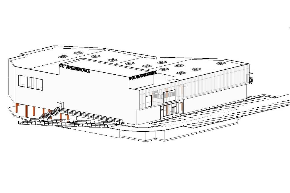 Konstruktionsprojekt des Einkaufszentrums - Zchng. 02-03