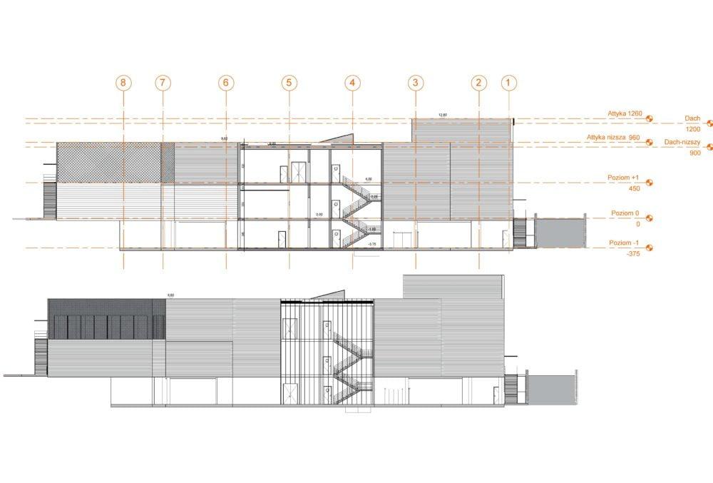 Konstruktionsprojekt des Einkaufszentrums - Zchng. 05-03