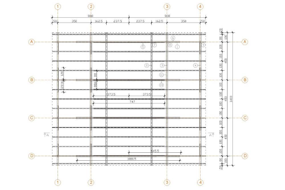 Projekt der Holzüberdachung - Zchng. 01-03
