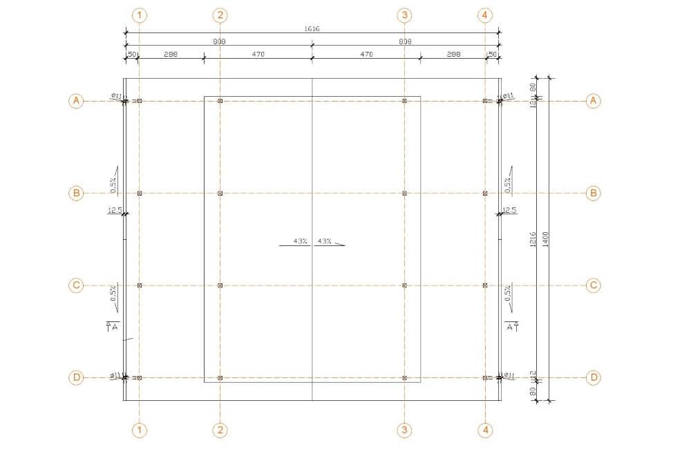 Projekt der Holzüberdachung - Zchng. 02-03