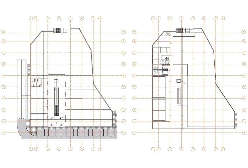 Projekt konstrukcyjny galerii handlowej - rys. 03-03