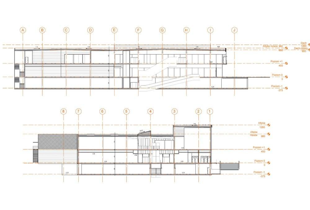 Projekt konstrukcyjny galerii handlowej - rys. 04-03