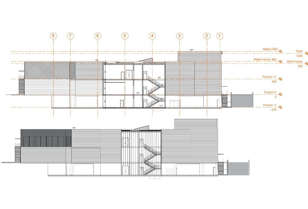 Projekt konstrukcyjny galerii handlowej - rys. 05-03