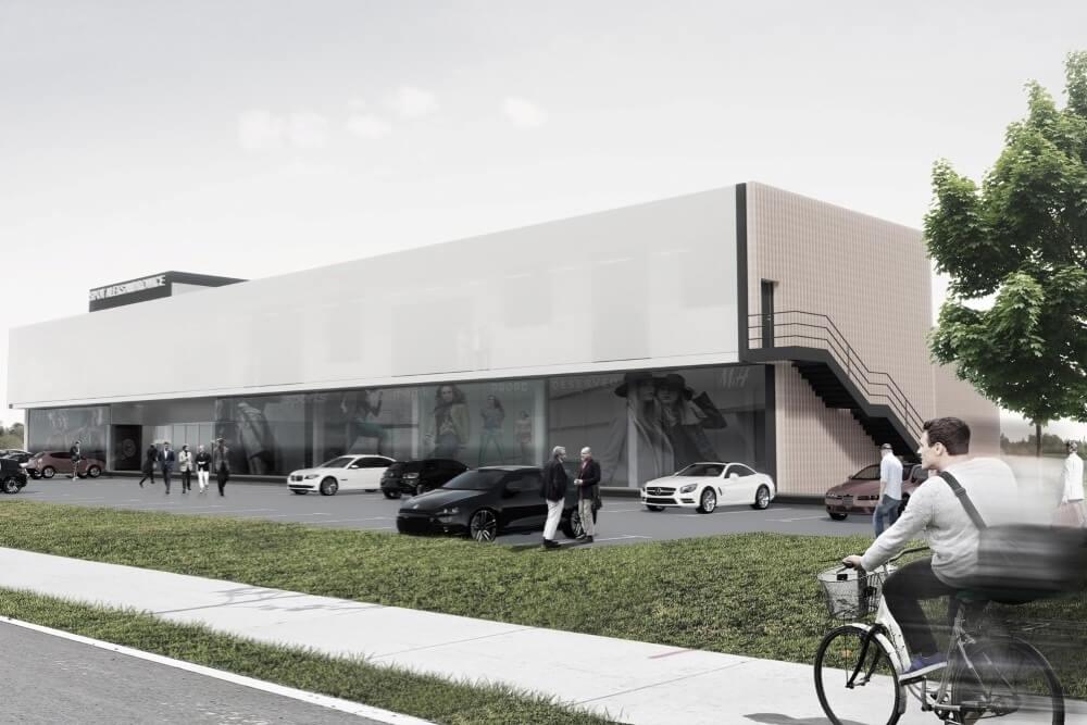 Projekt konstrukcyjny galerii handlowej - wiz. 06-03