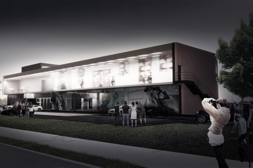 Projekt konstrukcyjny galerii handlowej - wiz. 07-03