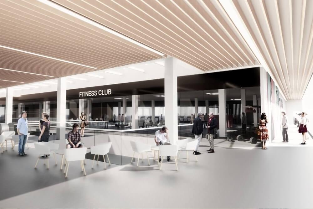 Projekt konstrukcyjny galerii handlowej - wiz. 09-03