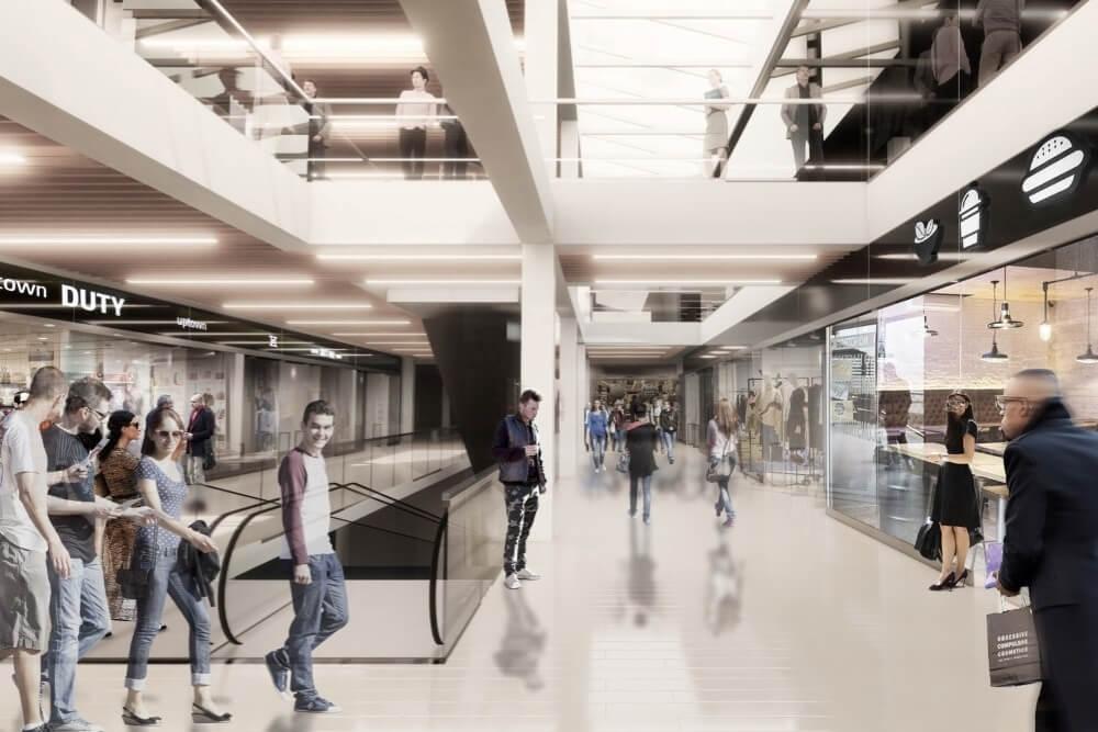 Projekt konstrukcyjny galerii handlowej - wiz. 10-03
