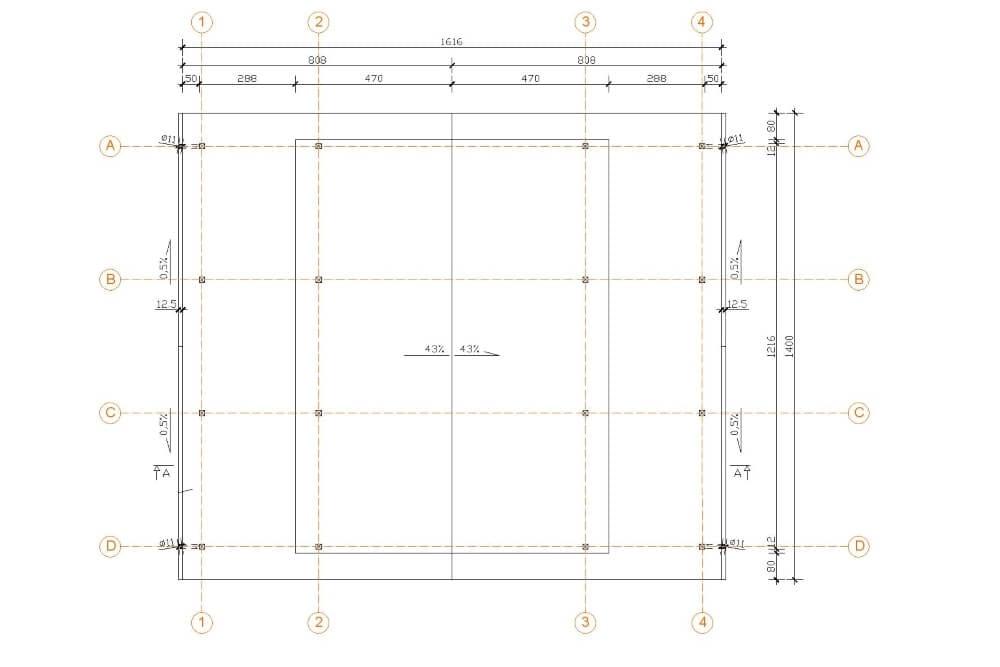 Projekt wiaty drewnianej - rys. 02-03